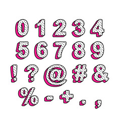 Numbers and signs in style lol doll surprise vector