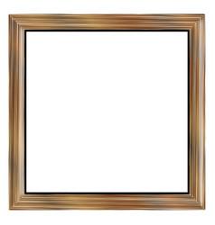 Pale oak picture frame vector