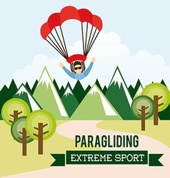 Paragliding vector