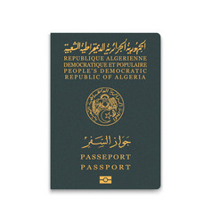 Passport algeria citizen id template vector