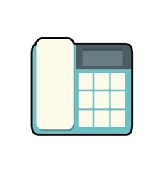 Phone office object instrument icon vector