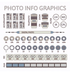Photo infographics set part two vector