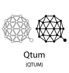 qtum black silhouette vector image