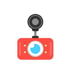 Red car dvr icon vector