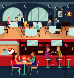 Resting people horizontal composition vector