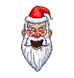 Santa Claus Laughing Head vector image
