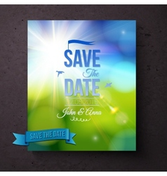 Save The date template for a Spring wedding vector image