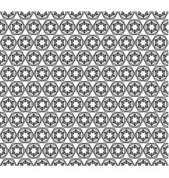 Seamless stars deco art pattern vector
