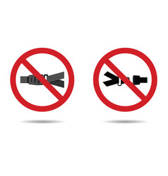 Seat belt sign vector