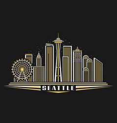 seattle vector image