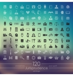 Set of jurisprudence icons vector image
