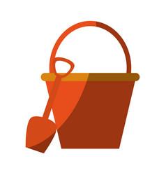 shovel and bucket icon vector image