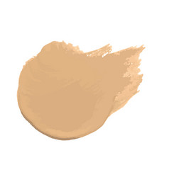 Smear foundation lotion made with brush on vector