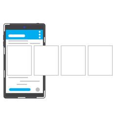 Social network smartphone vector