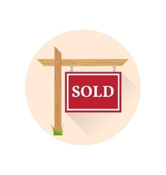 Sold Icon on the white background vector image