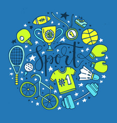 Sport circle vector