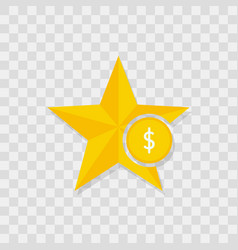 star icon money dollar icon vector image