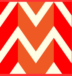 The pattern in which the red orange and white vector