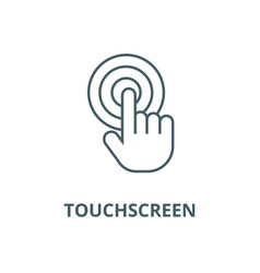 touch fingertouchscreen line icon vector image