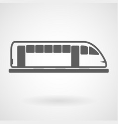 tram icon on white background vector image