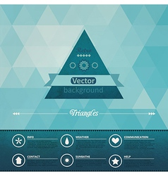 Triangle seamless background Retro label design vector