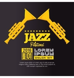 Trumpets festival jazz music design vector