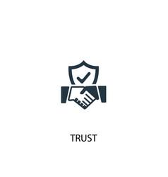 Trust icon simple element vector