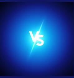 Versus logo vs letters battle match game concept vector