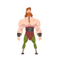 Viking warrior strong muscular scandinavian vector