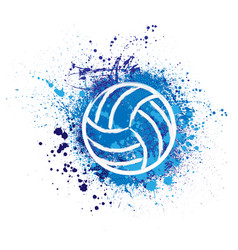 Volleyball grunge background vector