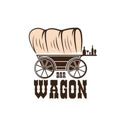 Wagon western bar concept design template vector