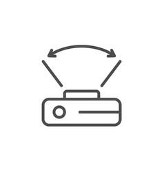 Wide angle camera line icon vector