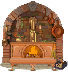 wood stove vector image