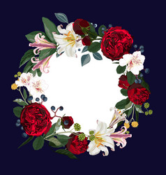 wreath frame border vector image