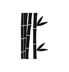 Bamboo stems icon simple style vector image vector image