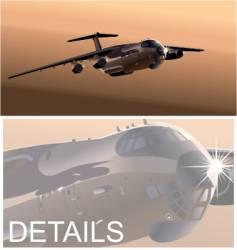 cargo airplane vector image vector image