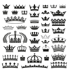 CROWNS collection vector image