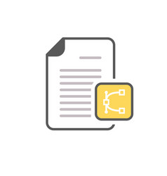 Document edit eps file page icon vector