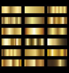 set of gold foil texture pattern background vector image