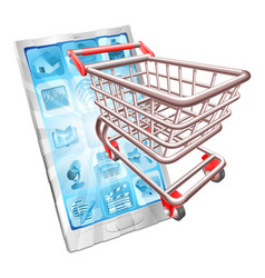 shopping phone app concept vector image vector image