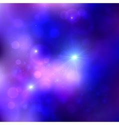 Dark blue cosmic background vector image vector image