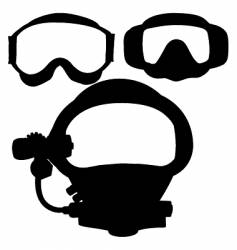 dive masks vector image vector image