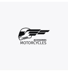 Motorcycles accessories black logotype vector image
