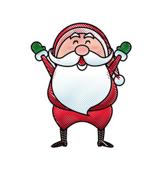 santa claus cartoon character merry christmas vector image vector image