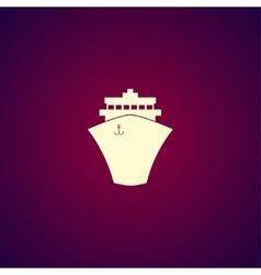 Ship icon Flat design style vector image