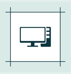 Computer icon simple vector
