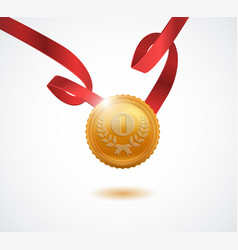 gold medal for first place vector image vector image