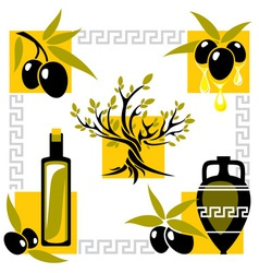 greece olive vector image vector image
