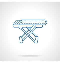 Ironing board blue flat line icon vector image vector image