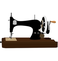 Retro sewing machine vector image
